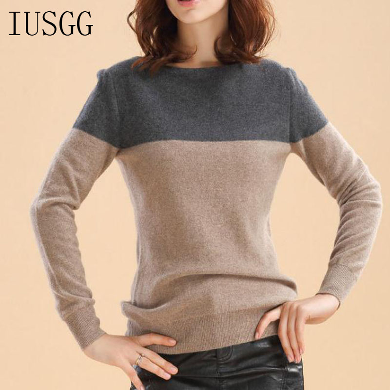 Cashmere Soft Jumper Pullover Knitting Winter Top Trendy Pull Sweater Women Patchwork Tops Loose Color Autumn Winter Casual Top