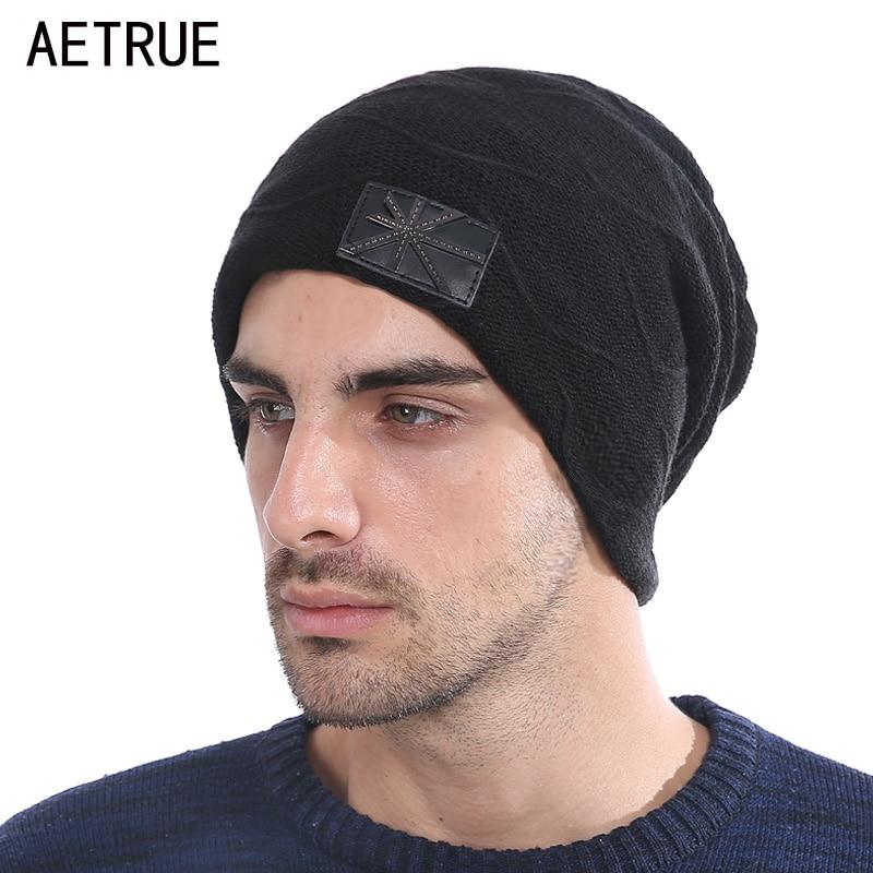 Brand Winter   Skullies     Beanies   Men Knitted Hat Caps Women   Beanie   Warm Baggy Bonnet Fashion Blalaclava Winter Hats For Men Hat