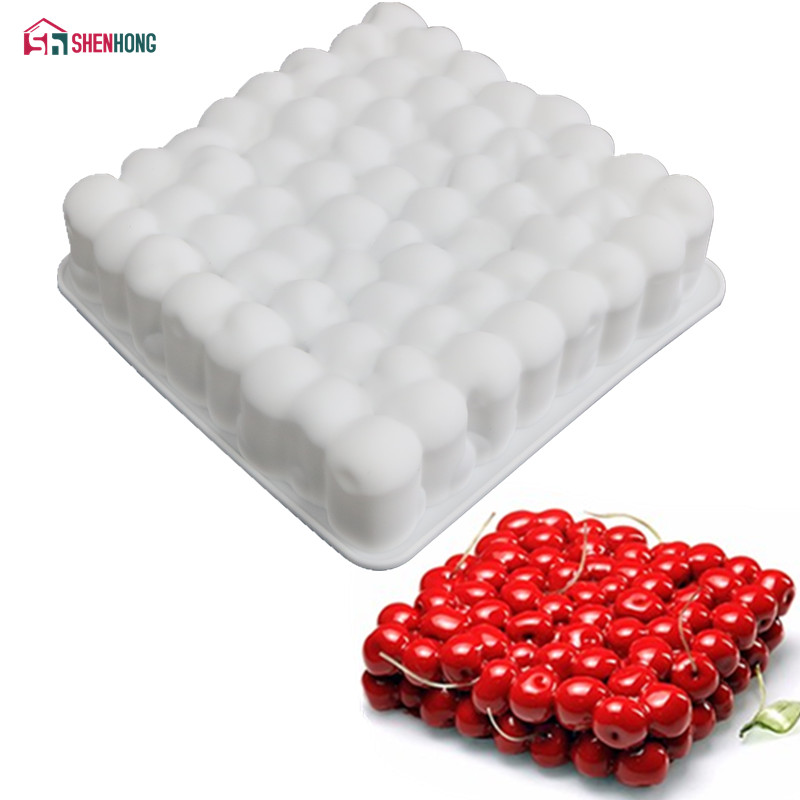 SHENHONG Silicone 3D Cherry Shape Cake Mold For Baking Mousse Chocolate Sponge Moulds Pans Cake Decorating Tools accessories