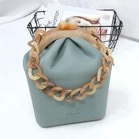 Acrylic Box Bag Bucket Bag Women Handbag Acrylic Clip Evening Bag For Woman Chain Luxury Banquet Party Purse Shoulder Bags