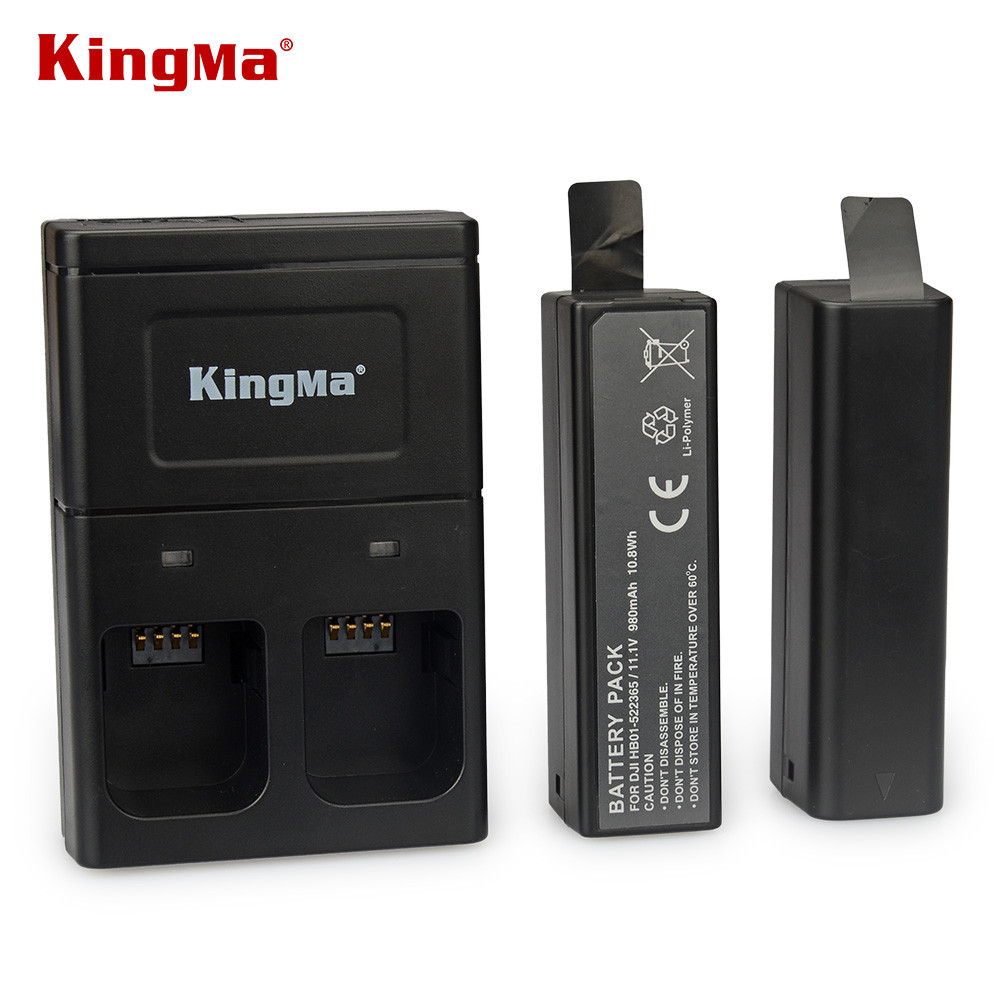 цена на Original Kingma battery 2pcs with dual charger for DJI Osmo Intelligent Handheld 4K Gimbal Extra Accessories
