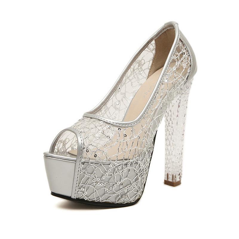 3 Chaussures Sandales Femmes Maille Dames Femme 3 De Cristal D'été 818 Silver 818 Talons 3 Toe Partie Black 2018 Nouveau 818 Mariage Hauts Peep Gold Évider Xaxbxc xwvIBa0Z