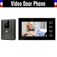 "7 "" pulgadas a Color Monitor Video de la puerta teléfono de Bell de puerta sistema de intercomunicación IR resolución 800 x 480 cámara 1 monitores 1 cámara"