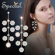 Special European 925 Silver Needle Flower Earring Ears No Ear Hole Clip Slim Princess Elizabeth.