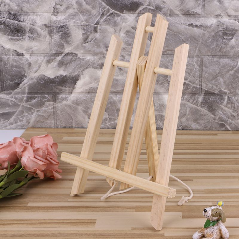 Top Quality 30cm Wood Easel Advertisement Exhibition Display Shelf Holder Studio Painting Stand