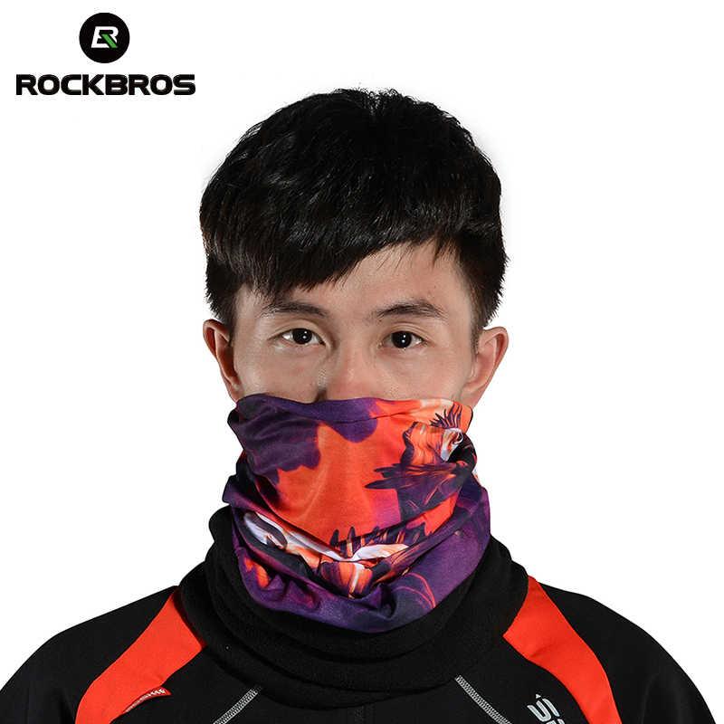 Rockbros Winter Fleece Thermische Magic Fietsen Fiets Apparatuur Sport Fiets Hoofddeksels Hoofdband Halswarmer Masker Sjaal Bandana