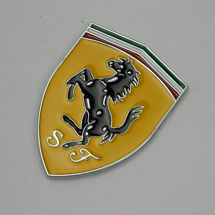 The Car Nameplate Metal Logo Stickers For Ferrari