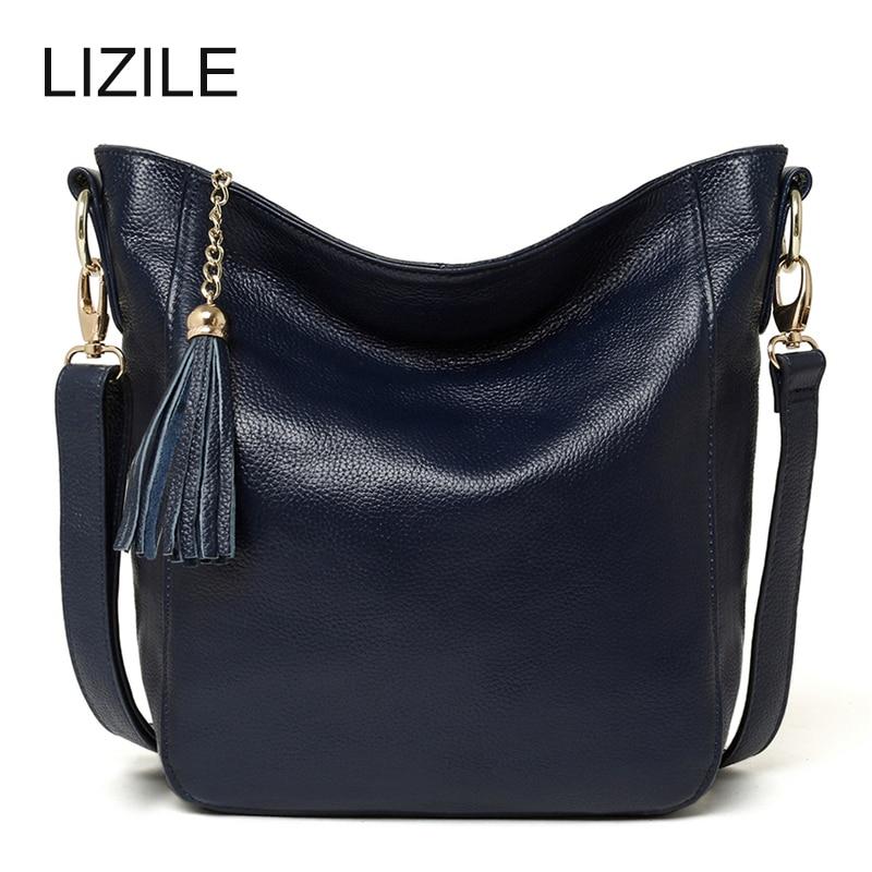Genuine Leather shoulder bags handbags women famous brands Tassel Bag messenger bags 2017 Female Fashion стоимость