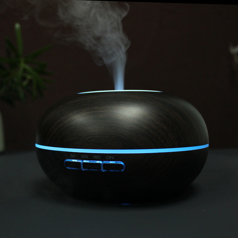 купить GXZ 300ml Wood Grain Humidifier Ultrasonic Night Lights Aroma Diffuser Essential Oil Mist Maker Mini Household Air Purifier дешево