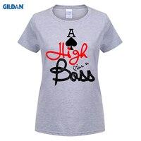 GILDAN 100 Cotton O Neck Custom Printed T Shirt Aces High Like A Boss Poker Tshirt
