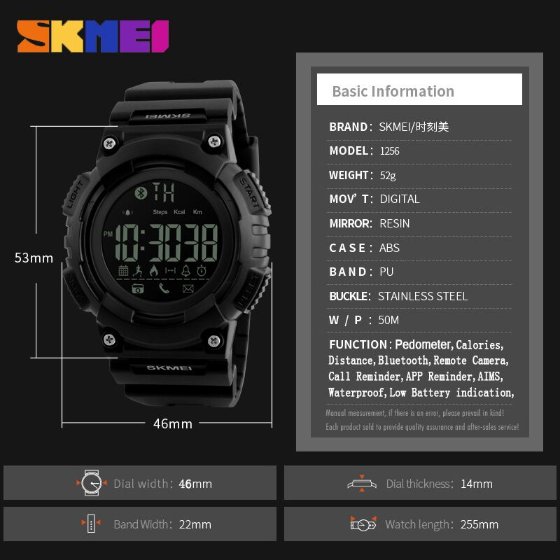 SKMEI Heren Sport Smart horloge Waterdichte Digitale Herenhorloge - Herenhorloges - Foto 6