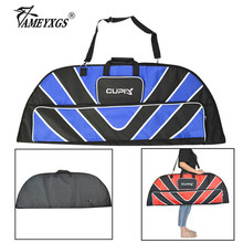 1pc Archery Nylon Bow Bag Hand shoulder Dual-use Portable Bow Bag Fit Compound Bow For Outdoor Hunting Shooting Accessories 1pc archery compound bow bag 600d nylon two shoulder straps backpack fit for all style compound bow hunting accessory