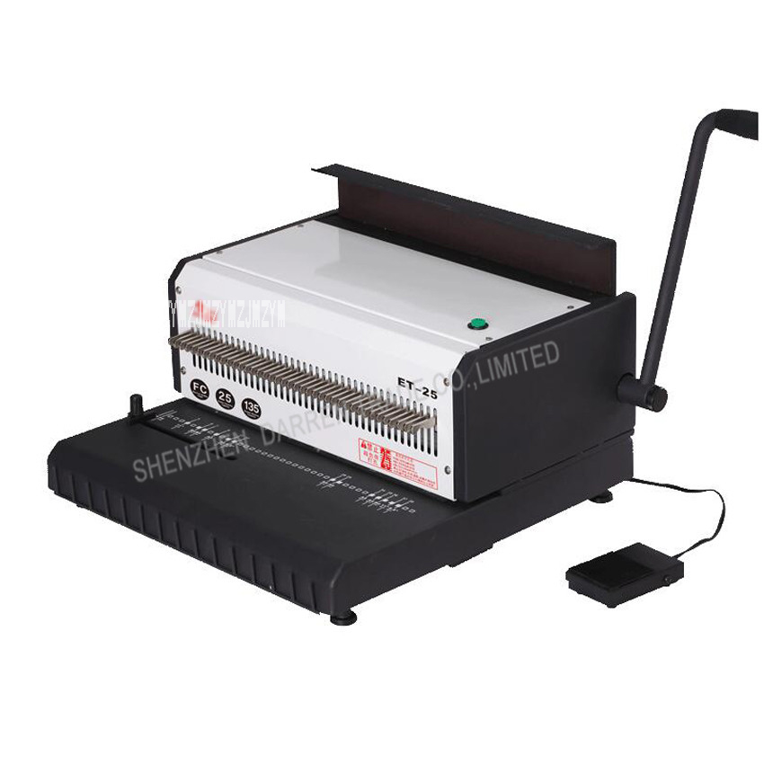 1PC new electric double wire book binding machine,book binder machine,A4 Comb Binding Machine hp5016 manual a4 paper book binder comb wire binding machine paper folder binding machine