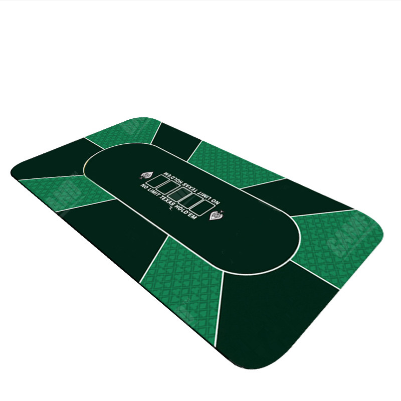 Texas Holdem Round Poker Mat 47 Inches Diameter Flower Pattern Rubber Gaming Pad
