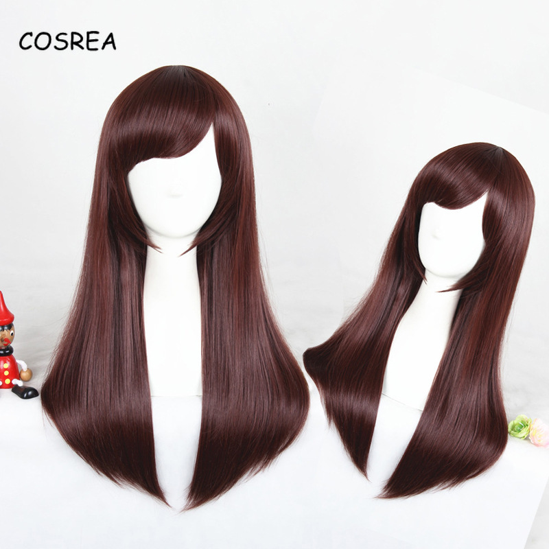 Game Dva Cosplay Long Wig Straight Women Hairpiece Cosplay Costume Female Girls Lady Heat Resistant Wig