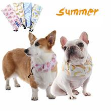 Pet Cooling Collar Collar Cooling Collar Dog Summer Cooling Artifact 4 Ice Packs Quick-drying Cool Cloth Can Be Reused 1500ml cooling ice packs