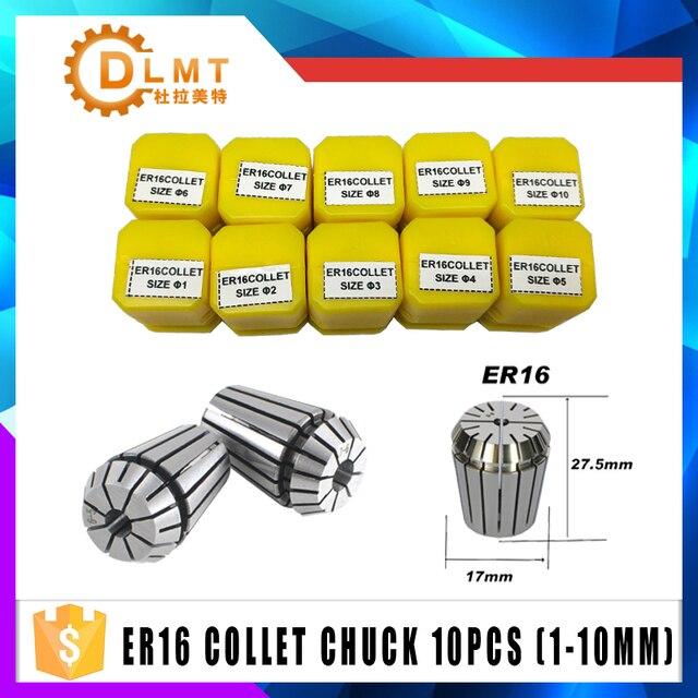 1 pcs ER16 1 10 MM 1/4 6.35 1/8 3.175 1.5 2.5 Spring Collet di Alta Precisione Collet Set Per macchina Per Incidere di CNC Tornio Mill Strumento