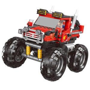 Image 3 - 500 ชิ้น + รถทั้งหมด Terrain Vehicle ชุด Building Blocks อิฐของเล่นสำหรับเด็กของขวัญเพื่อการศึกษาใช้งานร่วมกับบล็อก