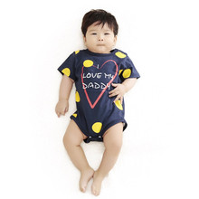 2016 Newest Love Papa Mama Printed Baby Boy Girl Clothes Infantil Romper Newborn Coveralls Next Bebes Jumpsuits Rompers