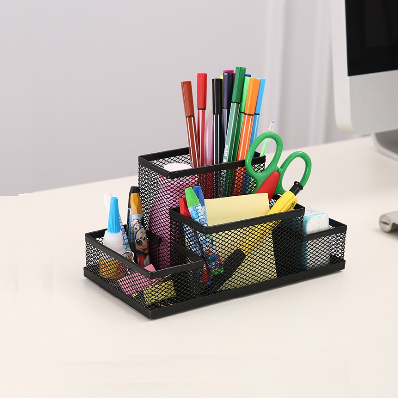 Office Supplies Stationery  Pencil Pen Holder Mesh Table Desk Organizer Storage Case