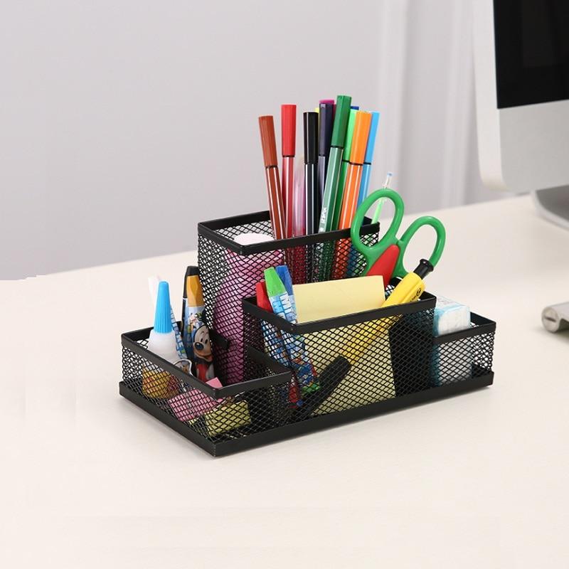 Office Supplies Stationery  Pencil Pen Holder Mesh Table Desk Organizer Storage Case