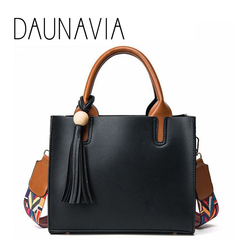 Leather Colored Bags Handbags Women Famous Brands Big Casual Women Bag Trunk Tote Spanish Shoulder Bag Ladies large Bolsos Mujer