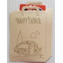 Bag Handle Set Shape Metal Cutting Dies Stencil Scrapbook Album Embossing For Gift Card Making Handcraft