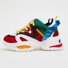 Moxxy Plus Size 35-43 INS Hot Dad Sneakers Women Shoes Man Sport Casual Platform Heels Wedge 2019