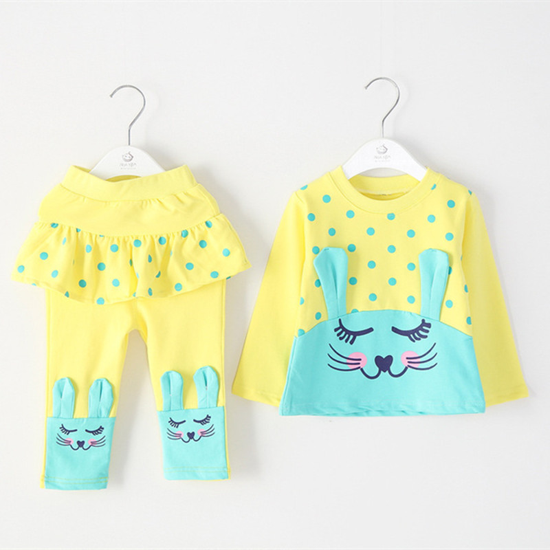 Anlencool Roupas Meninos Free Shipping Autumn Baby Clothing For Girls Suit Small Rabbit Models Set Newborn Girl Clothes Fashion