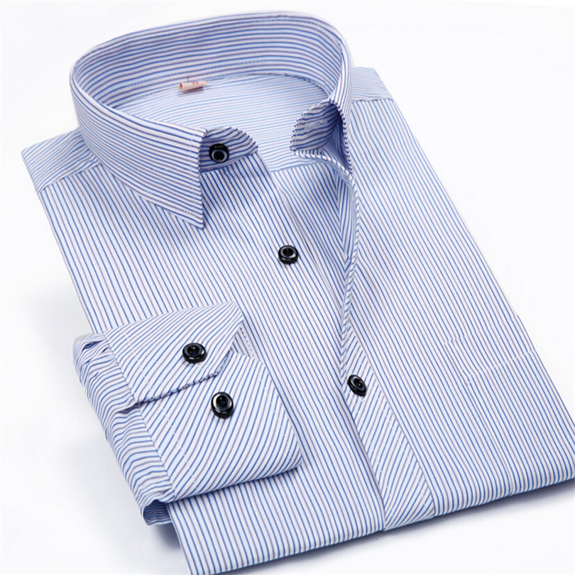 Men  Casual  shirt  long sleeve  striped  shirts  plus size  camiseta   DM2111  M L XL XXL XXXL 4XL 5XL 6XL 7XL