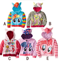 Girl children zipper hooded outwear children outerwear kids long sleeve hoody kid clothing 6 colors for choose