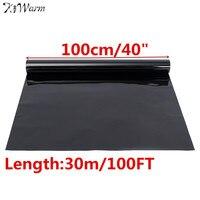 Window Tint Film 15%VLT 100cm x3m Window Glass Film Solar Protection Roll Black Exterior Sticker Foil for Car Side Window