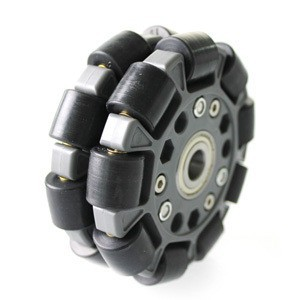 4 inch 100mm robot competition wheel double plastic plate all round and central bearing -14060 70mm double layers plastic omniwheel conveyor robot wheel omni directional double layer bearing caster roller