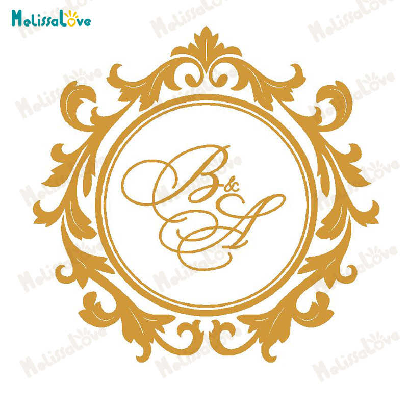 Custom Personalized Initial Wedding Design Circle Stickers