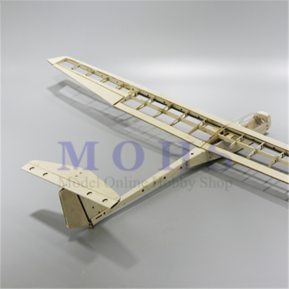 RC aircraft glider guppy wood airplane kits canopy hinges COMBO RC scale airplane glider guppy balsa fixed wing  kits COMBOParts & Accessories   -