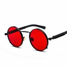 MYT_0135 New Punk style Sunglasses Men Trendy Spring Metal Mirror Legs Individual Women Reflective Oculos UV400