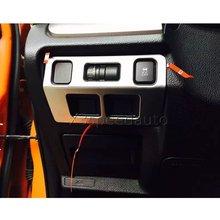 Для Subaru XV 2012-15 спереди головной свет лампы кнопка включения Обложки отделка 1 шт. автомобиль-Стайлинг