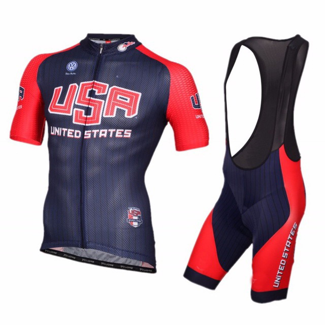 2016 USA UNITED STATE NATIONAL TEAM Men s Cycling Jersey Short Sleeve Bicycle Clothing With Bib