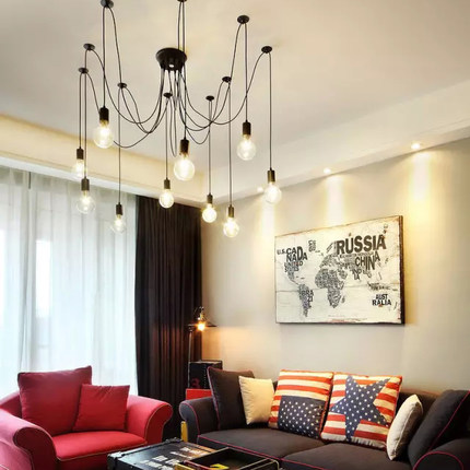 Loft Nordic Style Pendant Lights Creative 10 Lamp Pendant Lights For Dining Room Modern Personality Bar Art Deco Lighting