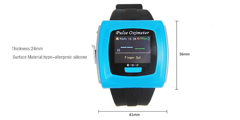 Wrist pulse oximeter Fingertip Color OLED Display SpO2 Probe CMS50F Blood Pressure Monitor oximeters WITH CE FDA color oled wrist fingertip pulse oximeter with software spo2 monitor