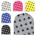 Invierno estrella infantil del bebé del sombrero del otoño crochet chica boy cap unisex beanie de punto de algodón niños 2016 nuevos niños del sombrero del invierno