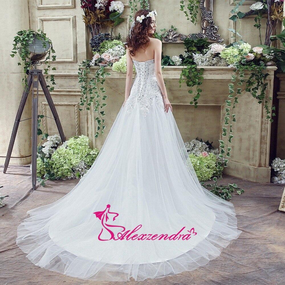 Alexzendra Klänningar A Line Beaded Wedding Dress Sweetheart - Bröllopsklänningar - Foto 3
