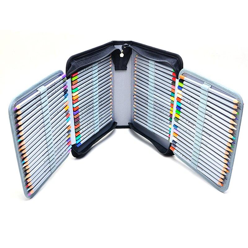 150 Trous Multi-fonction Portable Stylo Sac D'écriture Fournitures Boîte De Rangement Grande Capacité Croquis Dessin Crayon Cas Papeterie
