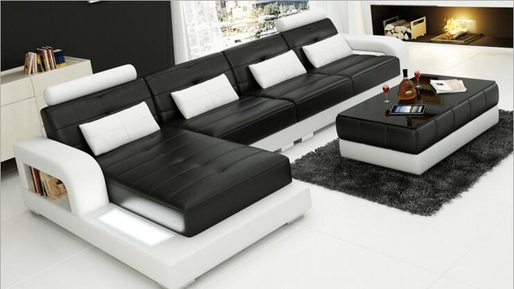 Modern Style  Living Room Genuine Leather Sofa A1307