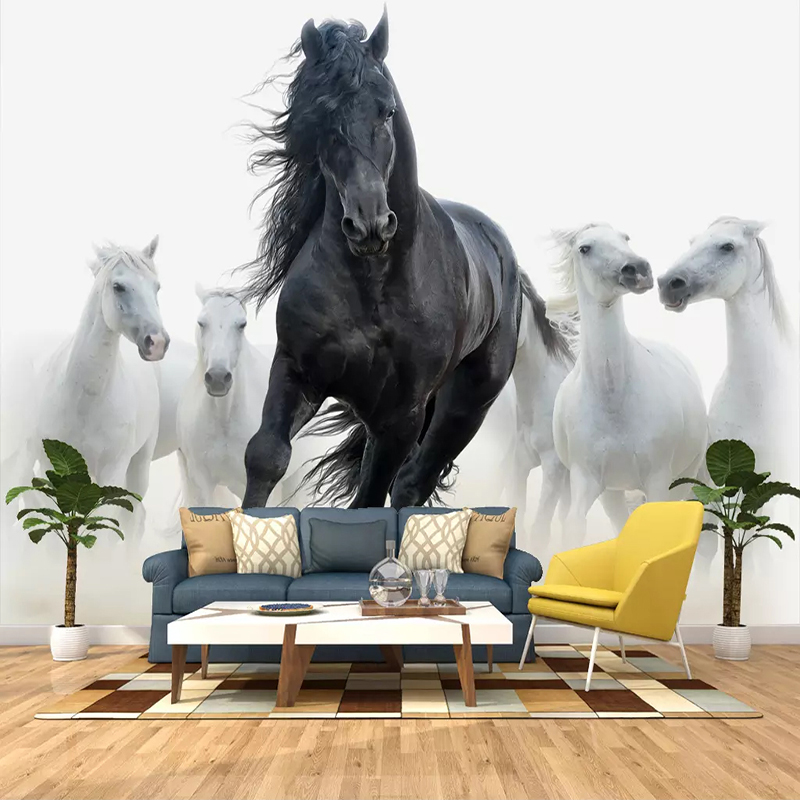 Painting Supplies & Wall Treatments Home Improvement Custom-made Photo Wallpaper White Horse Large Mural Continental Back Wall Sofa Bedroom Tv Backdrop 3d Mural Wallpaper 50% OFF