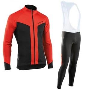 Image 4 - NW 2019 לנשימה רכיבה על אופניים בגדי סט Northwave ארוך שרוול קיץ ג רזי גברים חליפת חיצוני sportful אופני MTB בגדי paded