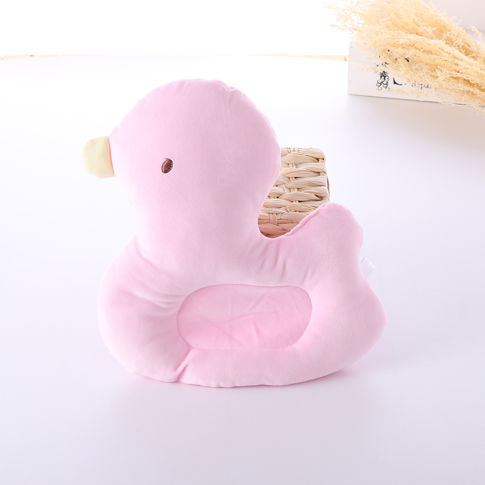 Cartoon Duck Infant Baby Concave Shaping Pillow Bedding Sleeping Head Cushion Plush Support Prevent Soft Pillows
