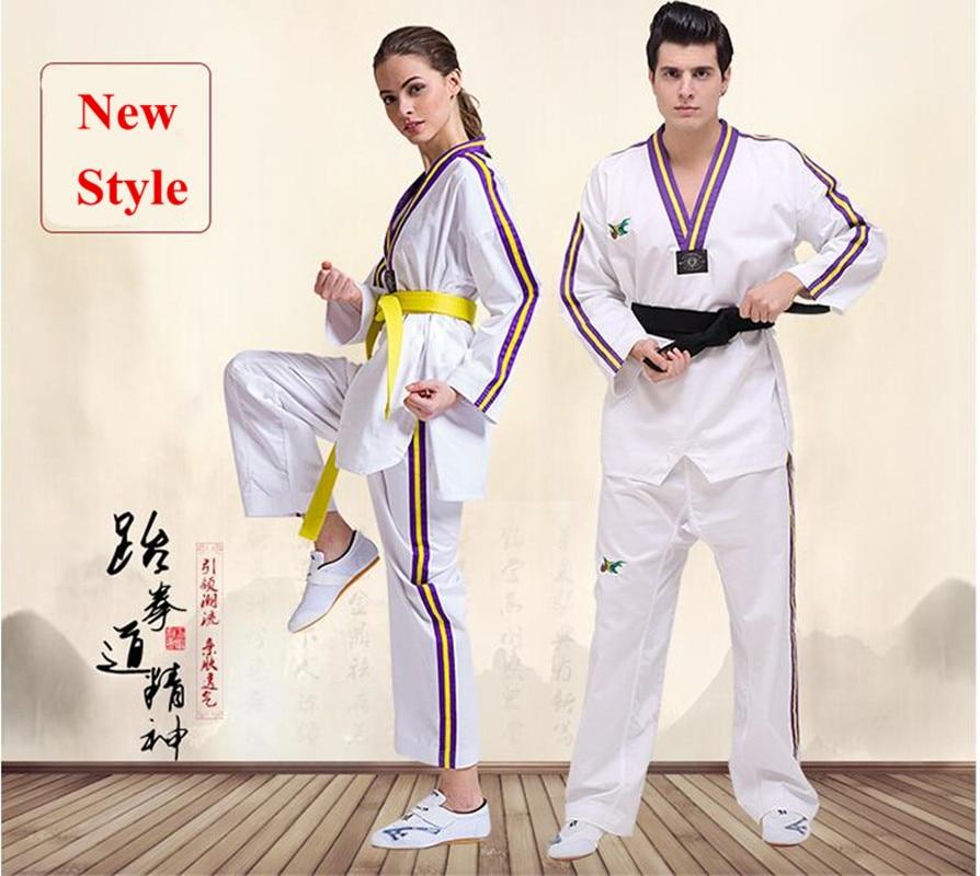 Ny stil Original voksen børn Bomuld Blød Taekwondo Uniform - Sportsbeklædning og tilbehør - Foto 2