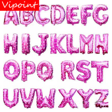 VIPOINT PARTY 16inch pink letter a-z foil balloons wedding event christmas halloween festival birthday party HY-336