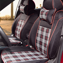 Tailored cover seatsfor Toyota Sienna car seat cover tartan fabric front rear automobiles seat covers car